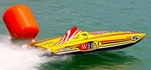 Powerboat Racing off Lido Beach, Sarasota, Florida