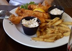Fish & Chips at the Boatyard Waterfront Grill