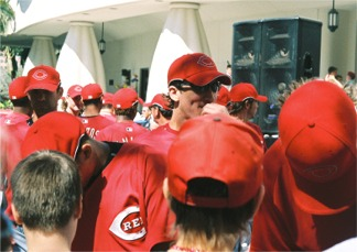 Cincinnati Reds Rally Downtown Sarasota Florida