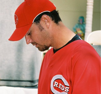 Cincinnati Reds players signing autographs