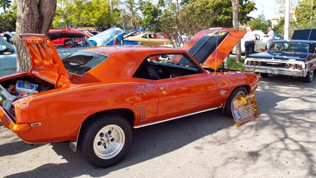 Classic car show in downtown Venice FL