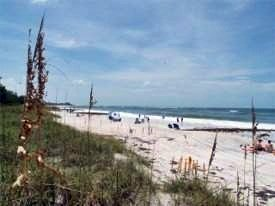 Where Coquina Beach meets Cortez Beach on Anna Maria Island Florida