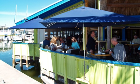 Outside deck at the Dockside Waterfront Grill in Venice, FL