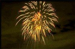 Fireworks over Bradenton, Florida
