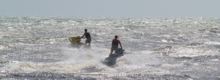Jet Skiing on the Gulf of Mexico off the Venice Jetty near Venice Florida