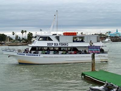 Deep sea fishing charter at Johns Pass