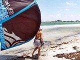 Kite surfing off Lido Key Beach near Sarasota Florida