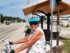 Biking on the Legacy Trail in Sarasota Florida