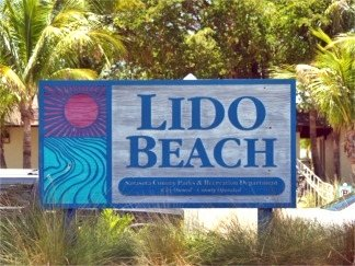 Lido Key Beach Sign