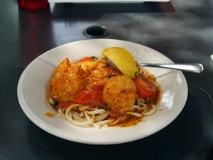 Shrimp Scampi at Mar Vista Restaurant and Bar Longboat Key Florida Dining