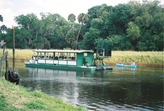 The Gator Gal airboat in the lagoon at Myakka State Park