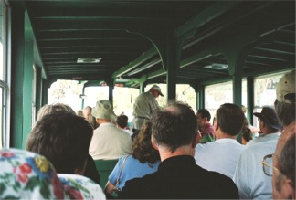 Aboard the airboat the Gator Gal