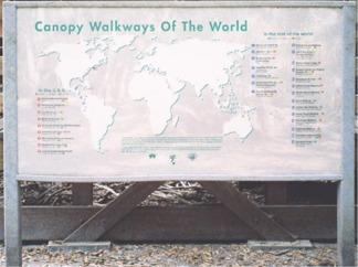 Canopy Walkways of the World sign at Myakka Park