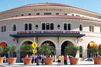 Ed Smith Stadium Sarasota spring training home of the Orioles