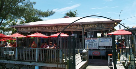 The new pass grill sits waterside at the south end of the for Sarasota fish restaurants