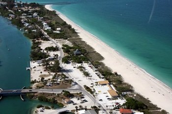Nokomis Beach from the air