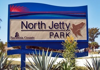 North Jetty Park Sign on sought Casey Key Florida