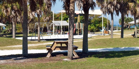 Picnic shelter near the playground at North Jetty Park Nokomis Florida