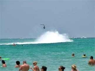 Offshore powerboat racing off Sarasota Florida