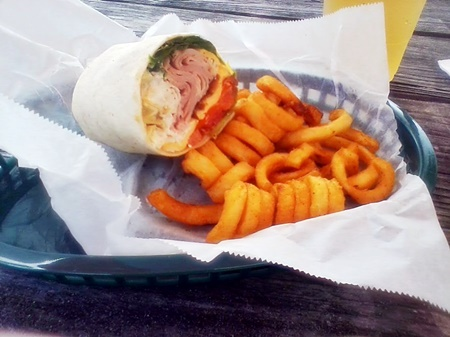 The Tiki Club wrap at OLearys Tiki Bar and Grill