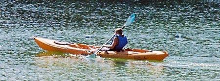 Kayaking on Lake Osprey in Oscar Scherer State Park in Osprey Florida