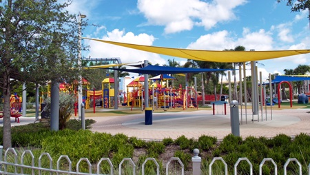 Kids playground in Sarasota's Payne Park