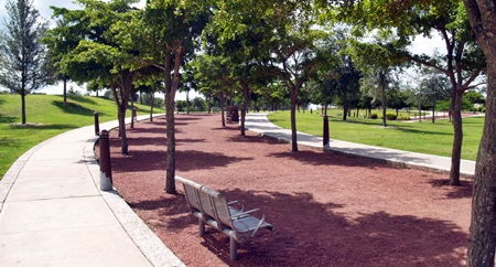 Walking and Jogging PAths in Sarasota's Payne Park