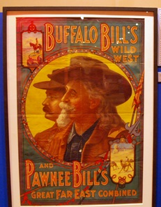Poster of Buffalo Bill at Ringling Circus Museum