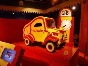 The Tiny Car of 6 foot clown Lou jacobs at the Ringling Circus Muesum
