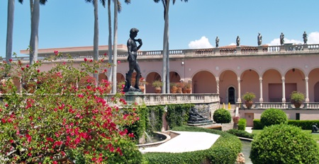 A bronze copy of David in the courtyard at the Ringling Art Muesum, Sarasota.