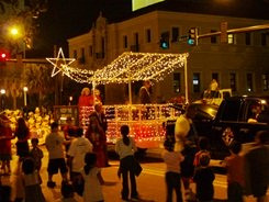 Sarasota events Santa Claus at the holiday parade