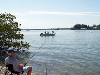 Fishing at Blackburn Point Park in Osprey