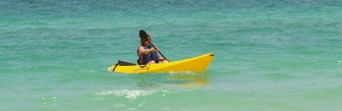 kayaking off Sarasota's Siesta Key Beach