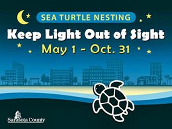 Sea turtle nesting season - lights out