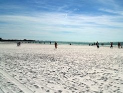 The wide strand at Siesta Beach near Sarasota Florida