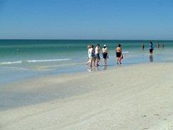 Walking and wading at Siesta Beach Sarasota Florida