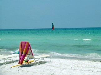 Looking out at the Gulf from Siesta  Key Beach Sarasota