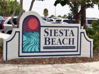 Siesta Key Beach Sign Sarasota Florida