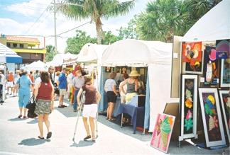Siesta Fiesta artists display tents Sarasota Florida