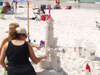 Siesta Key Beach Sarasota Florida Sand Sculpture