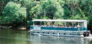 River boat guided tour at Snook Haven near Sarasota Florida