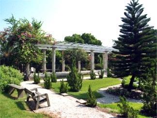 Sunken gardens at Historic Spanish Point, Sarasota Florida area