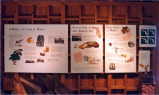 Webb packing house exhibit at Historic Spanish Point