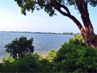 The view of Sarasota Bay from the White Cottage at Spanish Point
