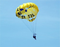 Parasailing over Siesta Key Beach Florida