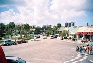 Looking down on St Armands Circle Sarasota Florida