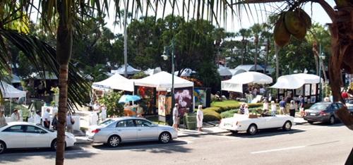 St Armands Art Festival near Sarasota Florida