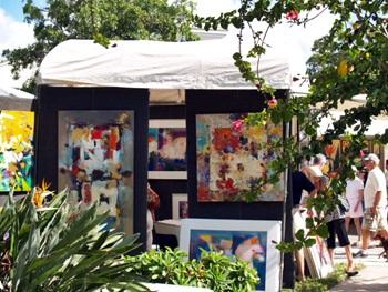 St Armands Art festival Art Displays