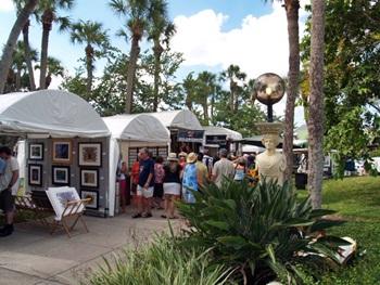 St Armands Art Festival Artist Tents