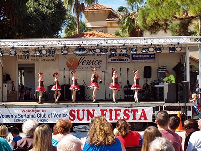 Local live entertainment at the Sun Fiesta